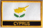 Cyprus Embroidered Flag Patch, style 09.